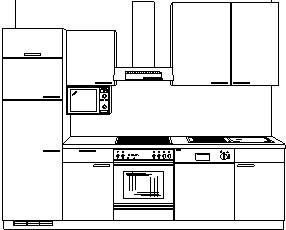 pino einbauk che vanille k chenzeile k che alno ag ebay. Black Bedroom Furniture Sets. Home Design Ideas